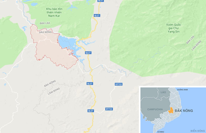Xã Quảng Phú nơi xảy ra sự việc. Ảnh: Google Maps.