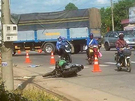 Hiện trường vụ tai nạn giao thông.