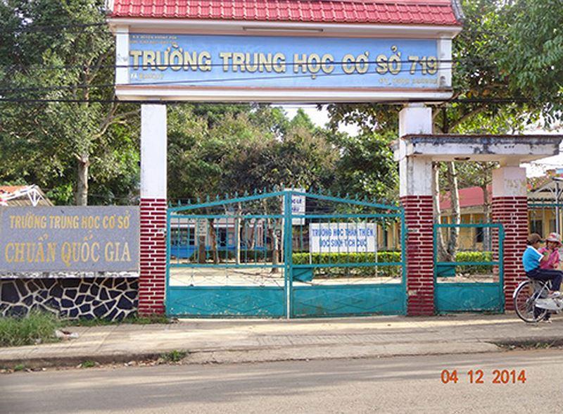 Trường trung học cơ sở 719, huyện Krông Pắk, tỉnh Đắk Lắk (ảnh: Tùng Vi, Quỳnh Hương))