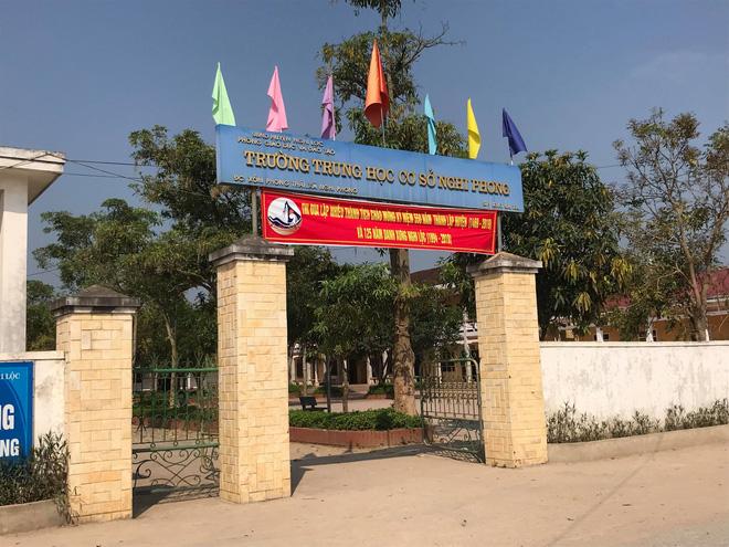 Trường Trung học cơ sở Nghi Phong nơi 2 nam sinh lớp 8 theo học và có hành vi nghi xâ.m h.ại bé gái lớp 2.