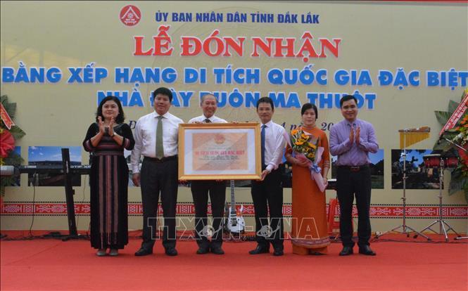 Tỉnh Đắk Lắk đón nhận Bằng xếp hạng Di tích Quốc gia đặc biệt Nhà đày Buôn Ma Thuột.