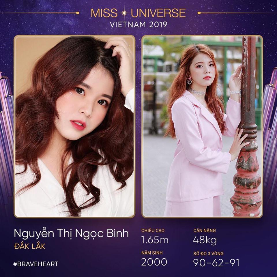 Người đẹp Nguyễn Thị Ngọc Bình đến từ Đắk Lắk, tuy chiều cao khiêm tốn nhưng lại sở hữu số đo 3 vòng vô cùng bốc lửa.