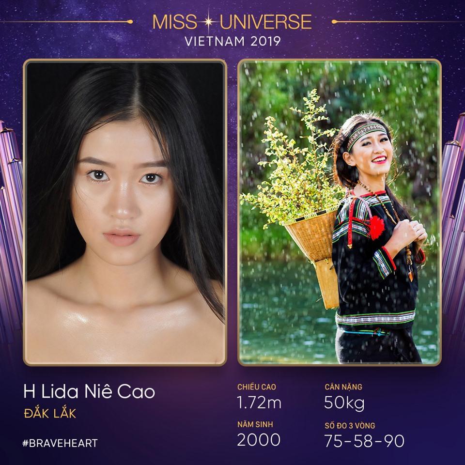 Thêm một nhan sắc của Đắk Lắk là H Lida Niê Cao tranh tài tại Hoa hậu Hoàn vũ Việt Nam 2019. Lida mới chỉ 19 tuổi, cao 1m72 và sở hữu ba vòng 75 - 58 - 90.