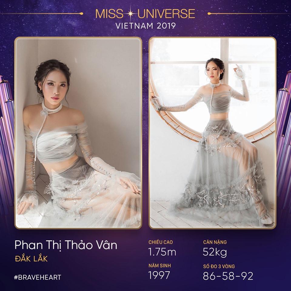 Phan Thị Thảo Vân đến từ Đắk Lắk, sở hữu gương mặt ưa nhìn cùng chiều cao ấn tượng 1m75, ba vòng chuẩn mực 86 - 58 - 92.