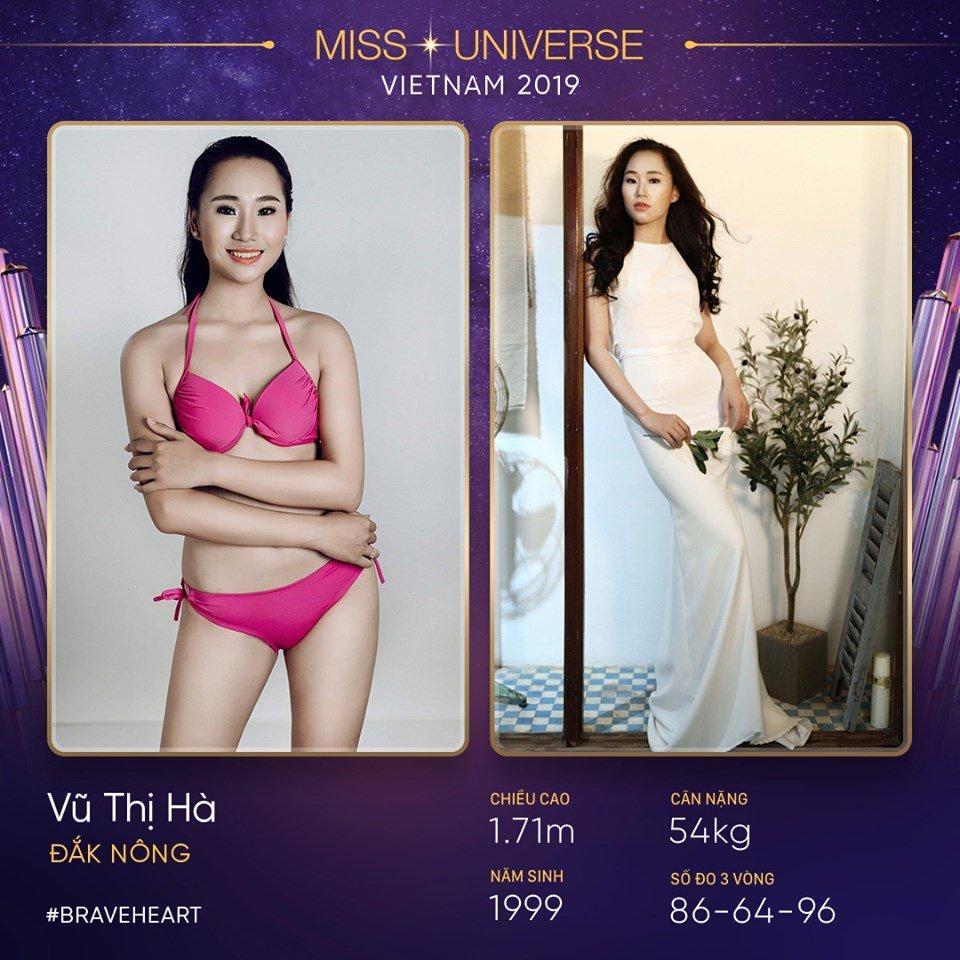 Cùng quê Đắk Nông là Vũ Thị Hà, sinh năm 1999. Cô sở hữu chiều cao 1m71 và số đo 86 - 64 - 96.