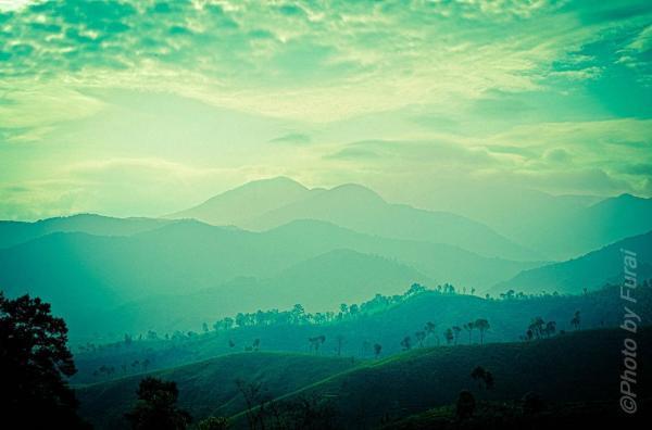 Phố núi Pleiku trong sương sớm. (Nguồn: Furai)