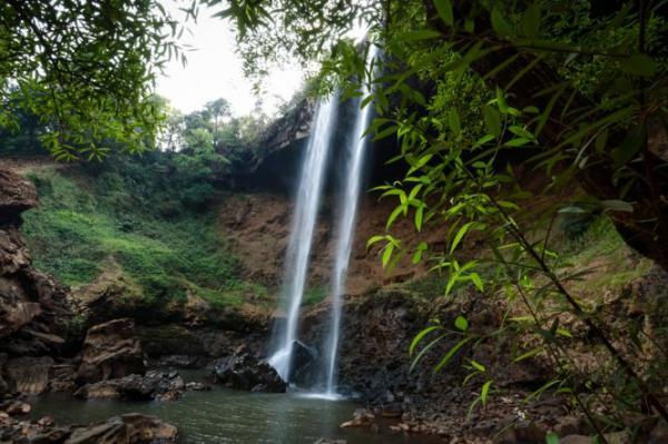 Một góc chân thác Đắk G'lun. (Nguồn: Tiến Thành)