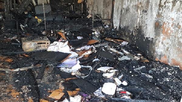 Hiện trường ngôi nhà ông T bị thiêu rụi khiến 5 người tử vong