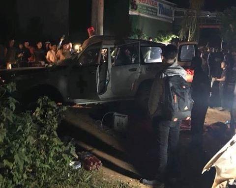 Hiện trường xe cứu thương gặp tai nạn liên hoàn làm 6 người thương vong ở Đắk Nông đêm 9/4