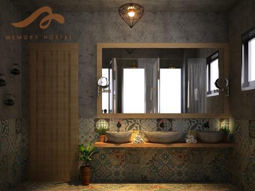 Khu nhà vệ sinh cũng được trang trí một cách rất đặc biệt. (Nguồn: Memoryhostel)