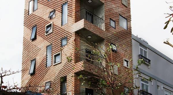Memory Hostel được bao phủ toàn bộ bởi gạch nung. (Nguồn: Memoryhostel)