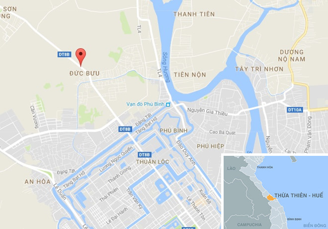 Đường Tản Đà (TP Huế), địa điểm xảy ra vụ tai nạn nghiêm trọng. Ảnh: Google Maps.