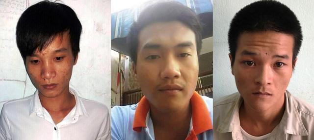 Ba đối tượng Phước, Duy, Việt tại cơ quan Công an