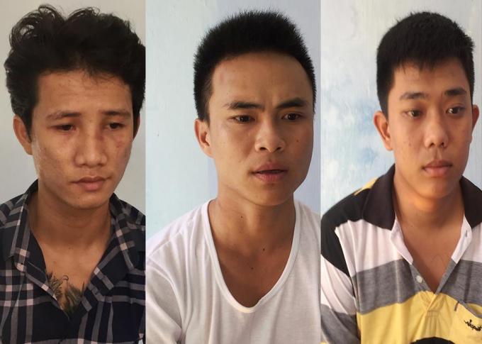 Phạm Văn Cường (trái) và hai đồng bọn Phạm Phú (giữa) và Châu Nhuận Phát (phải).