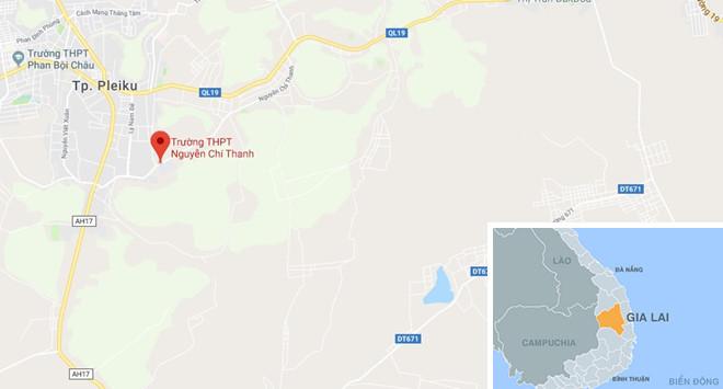 Trường THPT Nguyễn Chí Thanh. Ảnh: Google Maps.