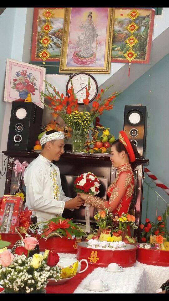 Ngày cưới của vợ chồng anh Nhật.