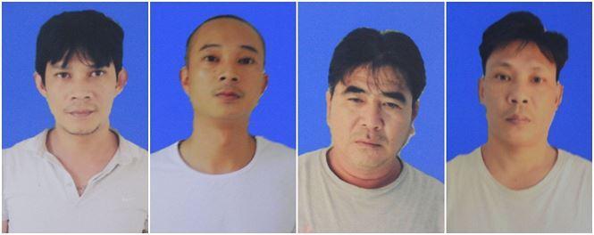 Các đối tượng (từ trái qua phải): Nguyễn Văn Phương, Lê Nguyễn Bá Thịnh, Lâm Thạnh, Nguyễn Đức Ngọc