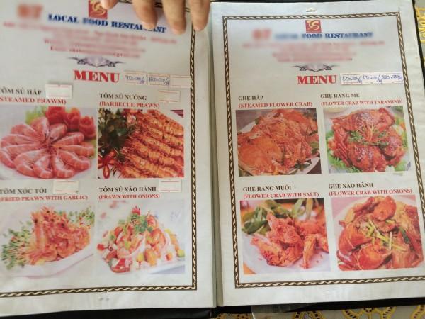 Nhà hàng khẳng định bán đúng giá đã niêm yết và những món mà đoàn nghệ sĩ gọi.