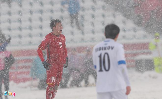 Tiền vệ Quang Hải tiếp tục lập công cho U23 Việt Nam. Ảnh: Tùng Lê.
