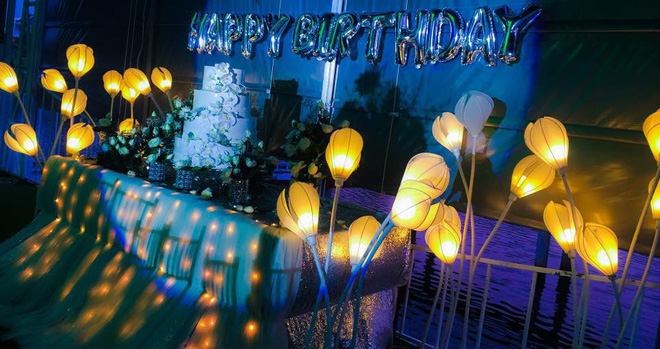 Không gian tiệc sinh nhật mà bạn N.T đã đặt trước đó. Ảnh: Facebook