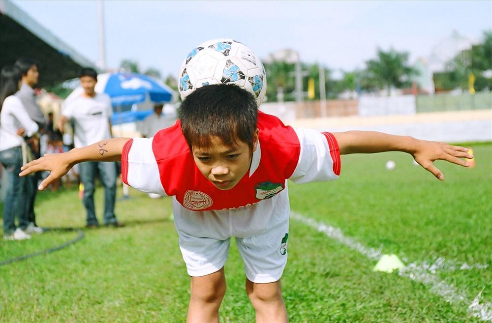 Nguyễn Công Phượng lúc trẻ.