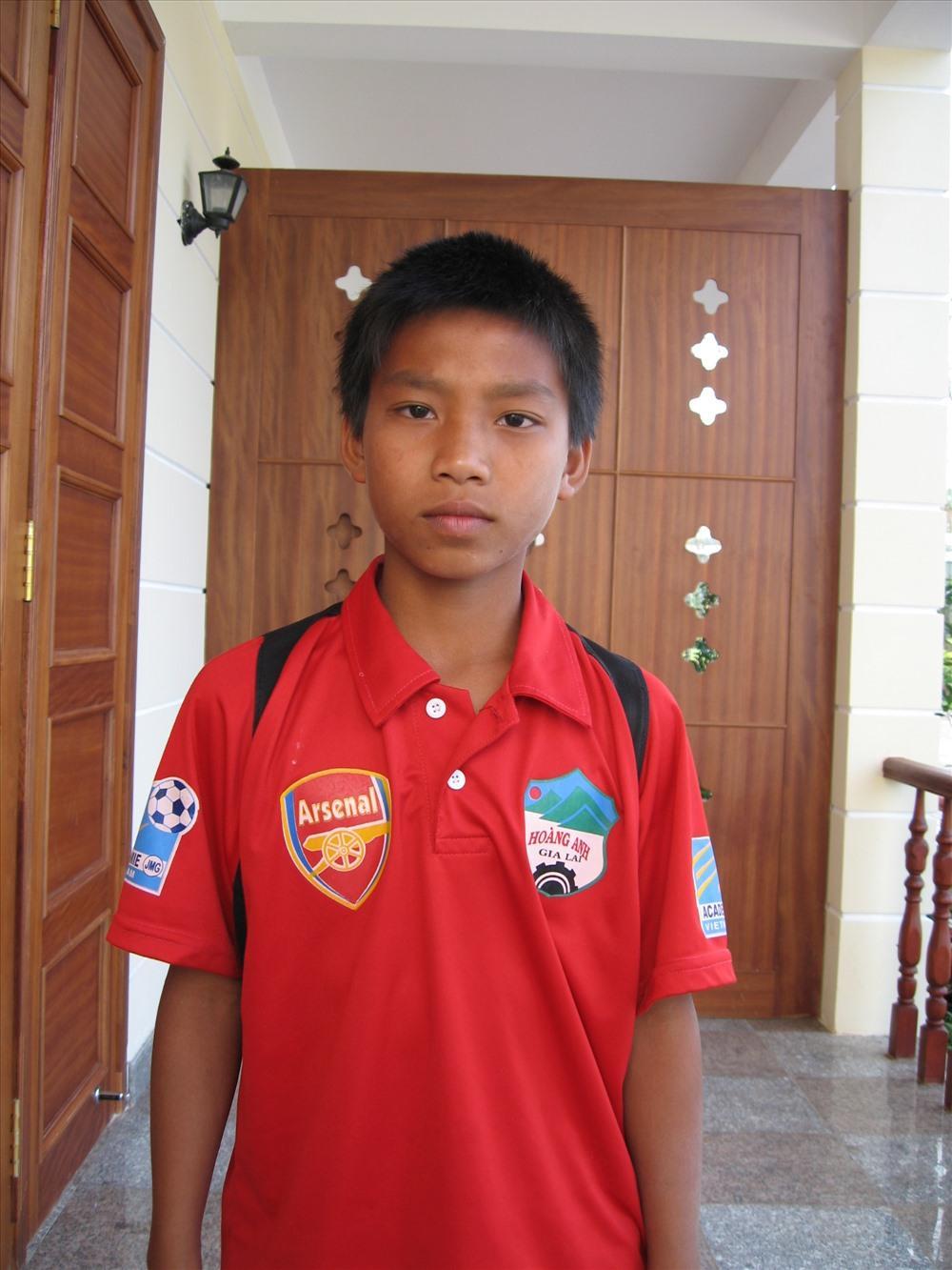 Cầu thủ Vũ Văn Thanh thời trẻ.