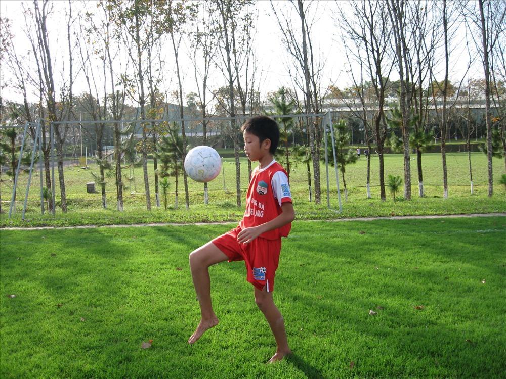 Lương Xuân Trường đội trưởng U23 Việt Nam năm 13 tuổi.