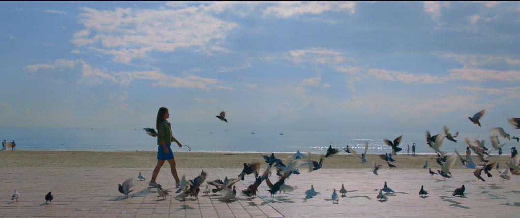 Khung cảnh lãng mạn bên bờ biển Đà Nẵng.