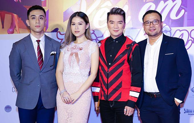 ác diễn viên Dương Edward, Ngọc Thanh Tâm, Mr Đàm và đạo diễn Văn Công Viễn.