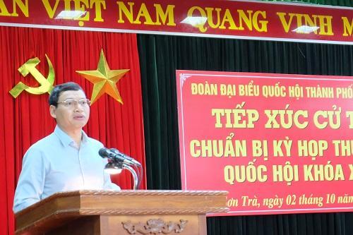 Phó Chủ tịch UBND thành phố Hồ Kỳ Minh trả lời kiến nghị của các cử tri