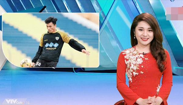 Diệu Linh và những lần lên sóng dẫn chương trình thể thao.