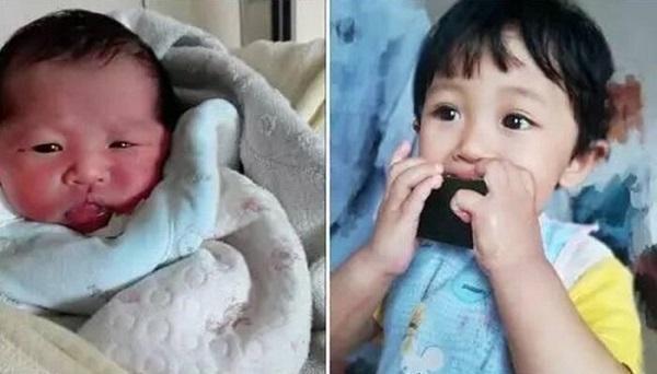 Sự khác biệt giữa lúc mới sinh và sau đó vài tháng của những em bé khác.