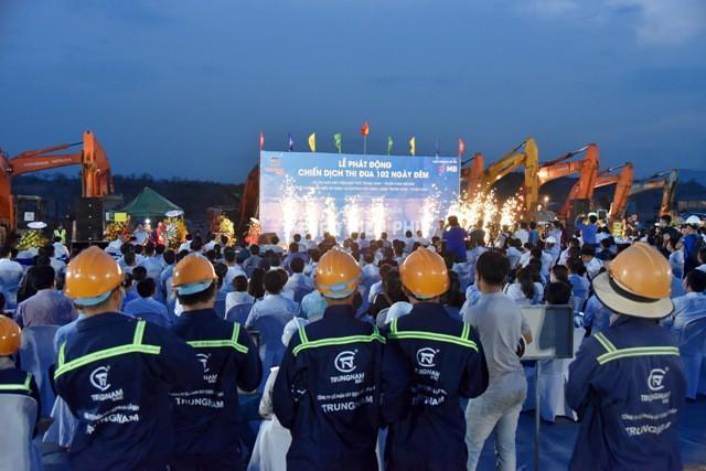 Nhà máy điện mặt trời Trung Nam - Thuận Nam (450 MW) đang được Tập đoàn Trung Nam đẩy nhanh thi công.
