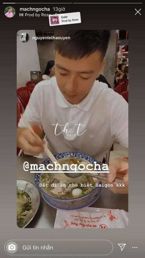 Trên mạng xã hội, Thảo Uyên và cầu thủ Mạch Ngọc Hà thường xuyên tương tác với nhau.
