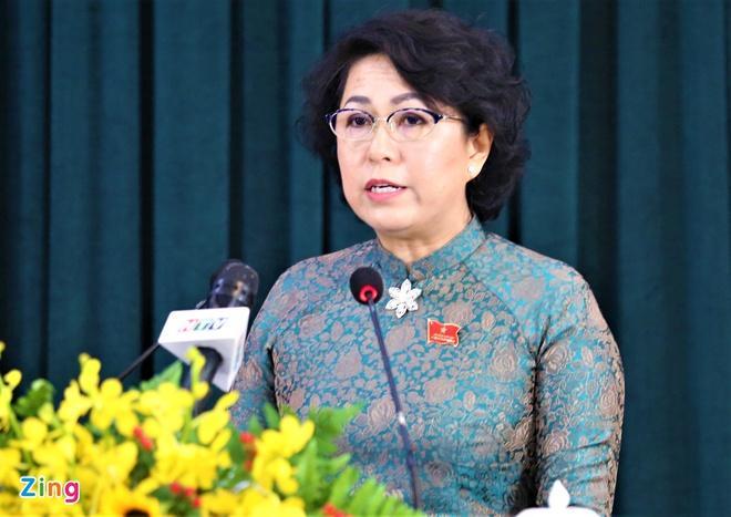 Bà Tô Thị Bích Châu, Chủ tịch Ủy ban MTTQ Việt Nam tại TP.HCM. Ảnh: Duy Anh.