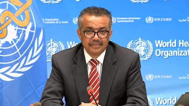 Tổng giám đốc WHO Tedros khóc trong khi kêu gọi đoàn kết quốc tế chống Covid-19. Ảnh: WHO.