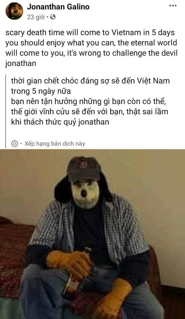 Jonathan Galindo sẽ đến Việt Nam trong 5 ngày tới?