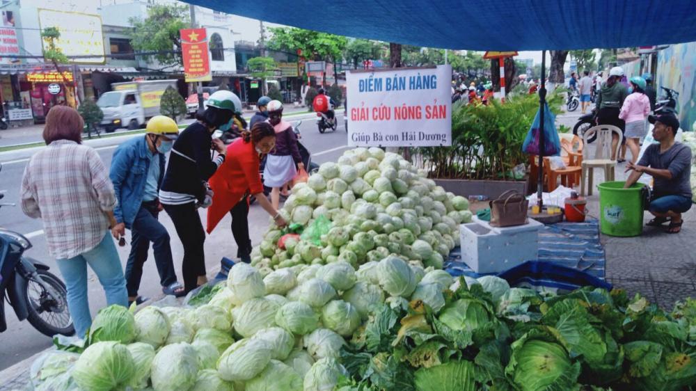 Người dân Đà Nẵng chung tay giải cứu nông sản Hải Dương