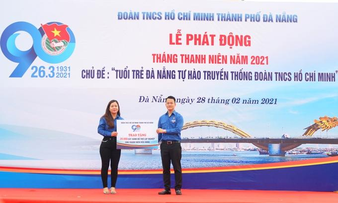 Thành Đoàn Đà Nẵng trao 20.000 cây xanh hỗ trợ thanh niên lập nghiệp  trên địa bàn huyện Hòa Vang.