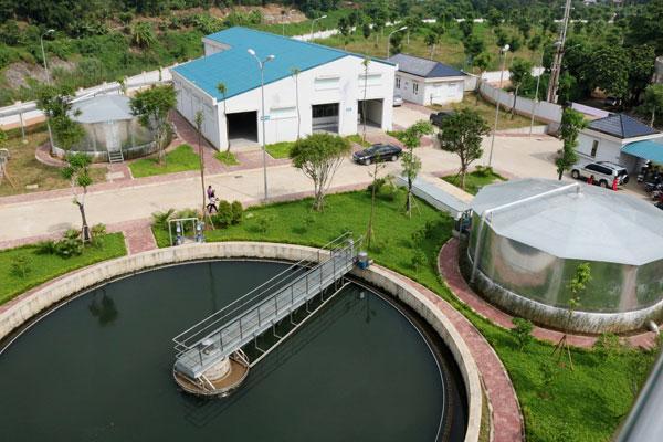 Một góc Nhà máy xử lý nước thải thành phố Lào Cai.