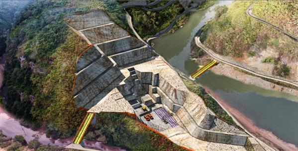 Hình ảnh phối cảnh thi công đào hố móng Nhà máy – Thủy điện Long Tạo. Nguồn: songda5.com.vn