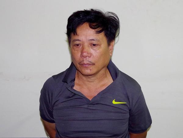 Đối tượng Trịnh Mạnh Tiến tại cơ quan điều tra.