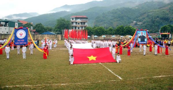 Toàn cảnh Lễ khai mạc Đại hội Thể dục thể thao huyện Mường Chà lần thứ VIII.