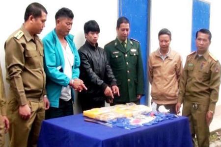 Tang vật thu giữ trong chuyên án 024LV của Bộ đội biên phòng tỉnh Điện Biên. Ảnh: KT