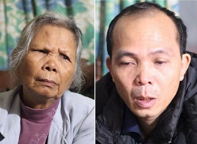 Bà Đặng Thị Nga cùng con trai Trịnh Huy Dương
