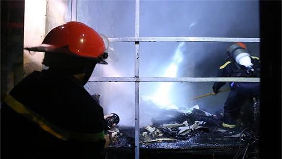 Hiện trường vụ cháy (Ảnh P.T.Anh)
