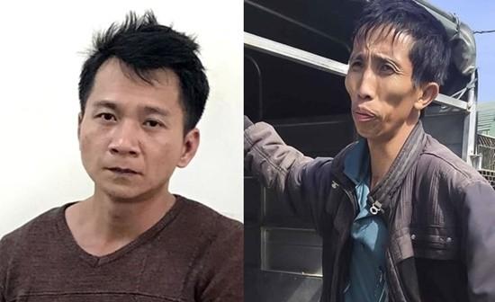 Nghi phạm chính Vương Văn Hùng (ảnh trái) và Bùi Văn Công.