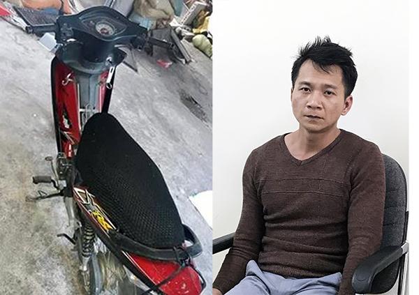 Chiếc xe máy nạn nhân sử dụng chở gà và đối tượng Vương Văn Hùng.