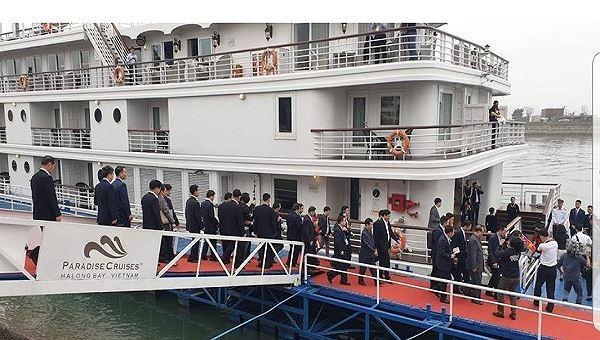 Quảng Ninh đón phái đoàn Triều Tiên bằng du thuyền