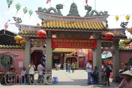 Chùa Ông có kiến trúc độc đáo cổ xưa của người Hoa trên đất Biên Hòa, Đồng Nai.